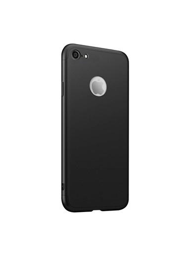 Microsonic iPhone 7 Kılıf Double Dip 360 Protective  Siyah